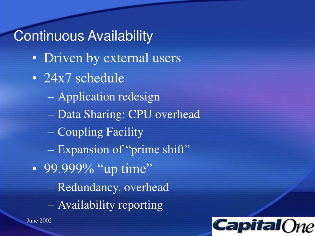 Continuous Availability