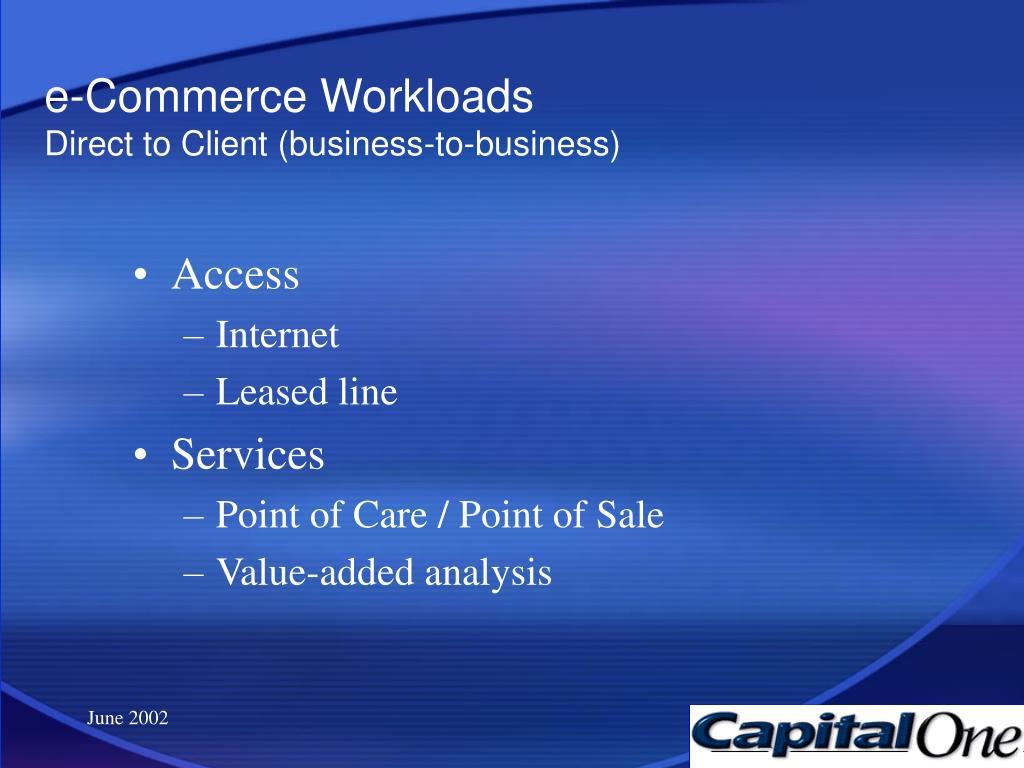 e-Commerce Workloads