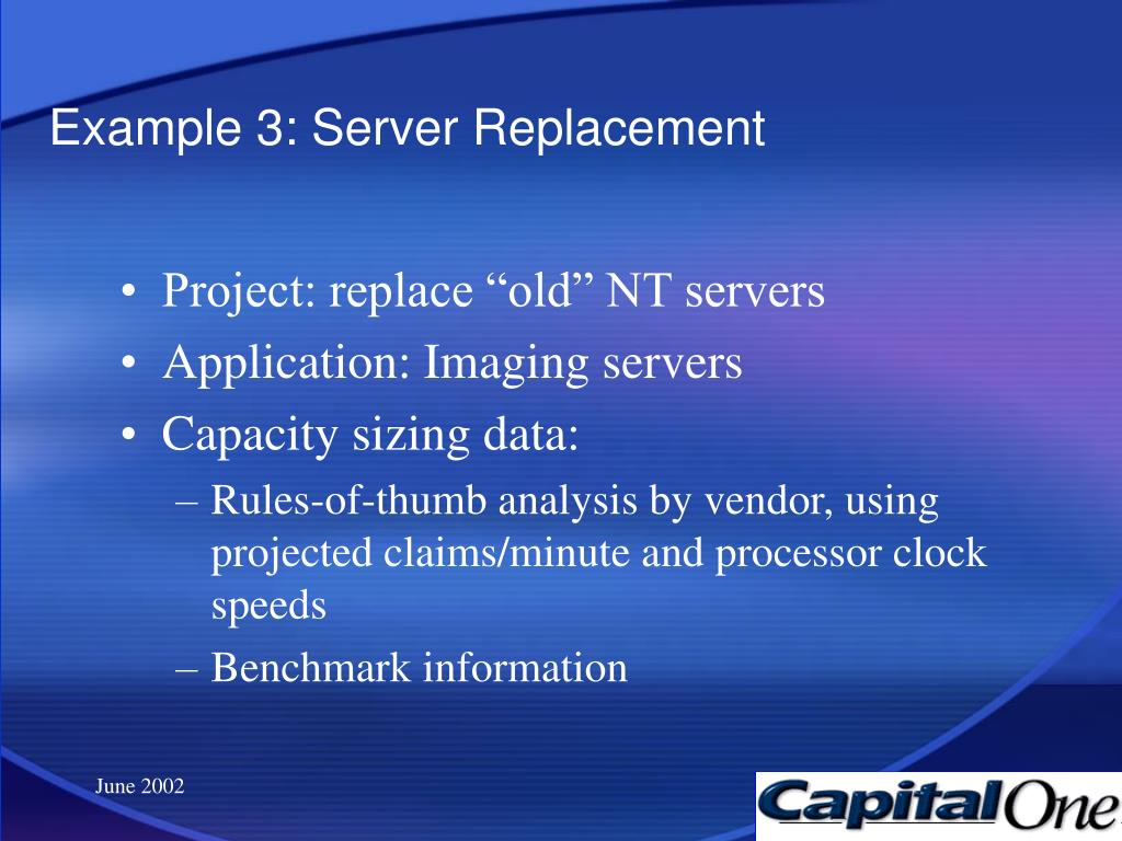 Example 3: Server Replacement