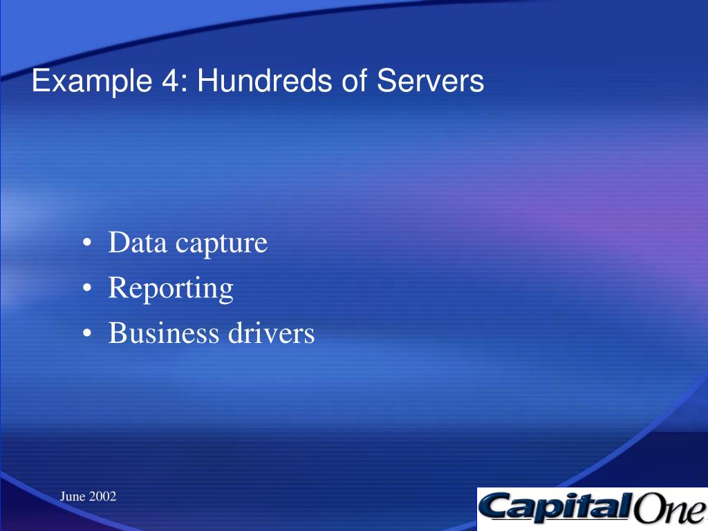 Example 4: Hundreds of Servers