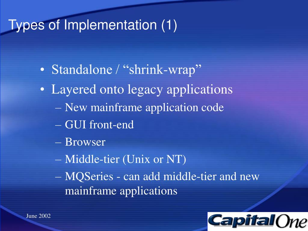 Types of Implementation (1)