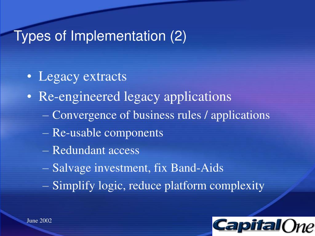 Types of Implementation (2)