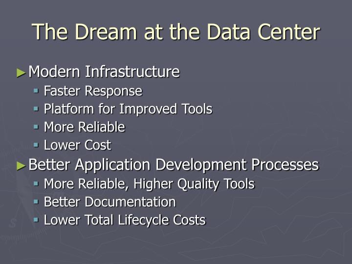 The Dream at the Data Center