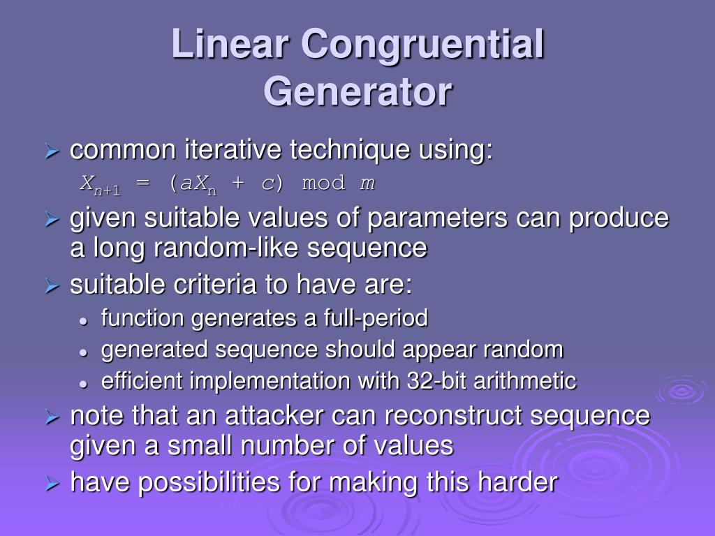 Linear Congruential