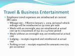 travel business entertainment