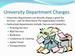 university department charges