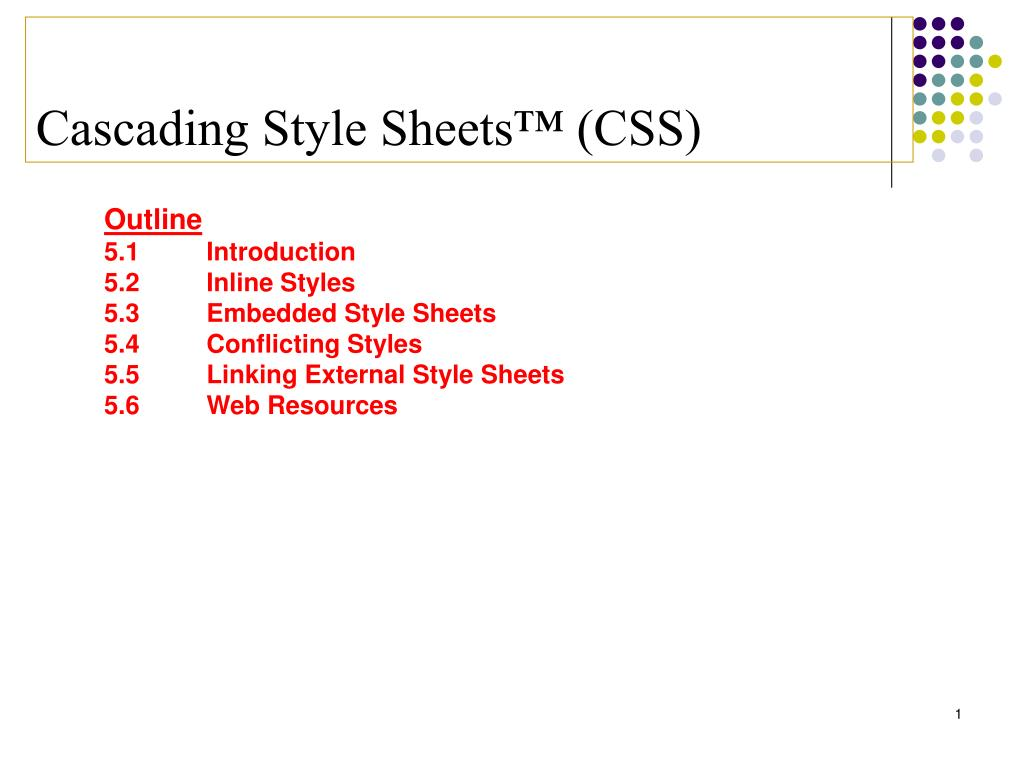 cascading style sheets css l.