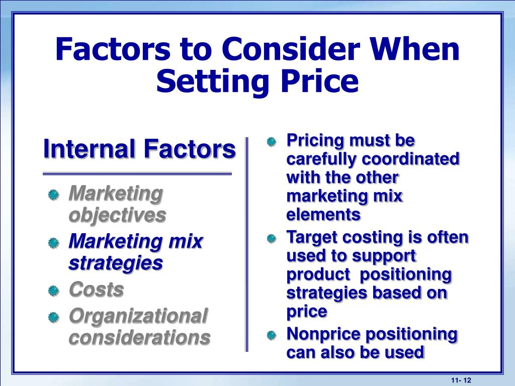 Pricing must be carefully coordinated with the other marketing mix elements