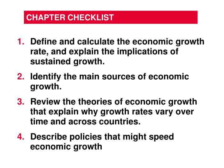 Chapter checklist