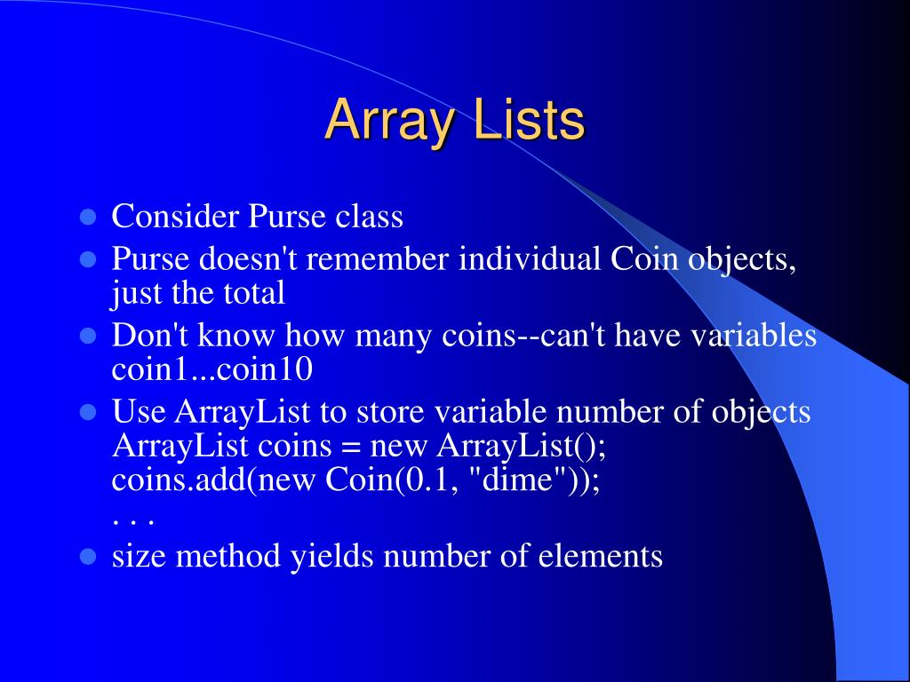 Array Lists