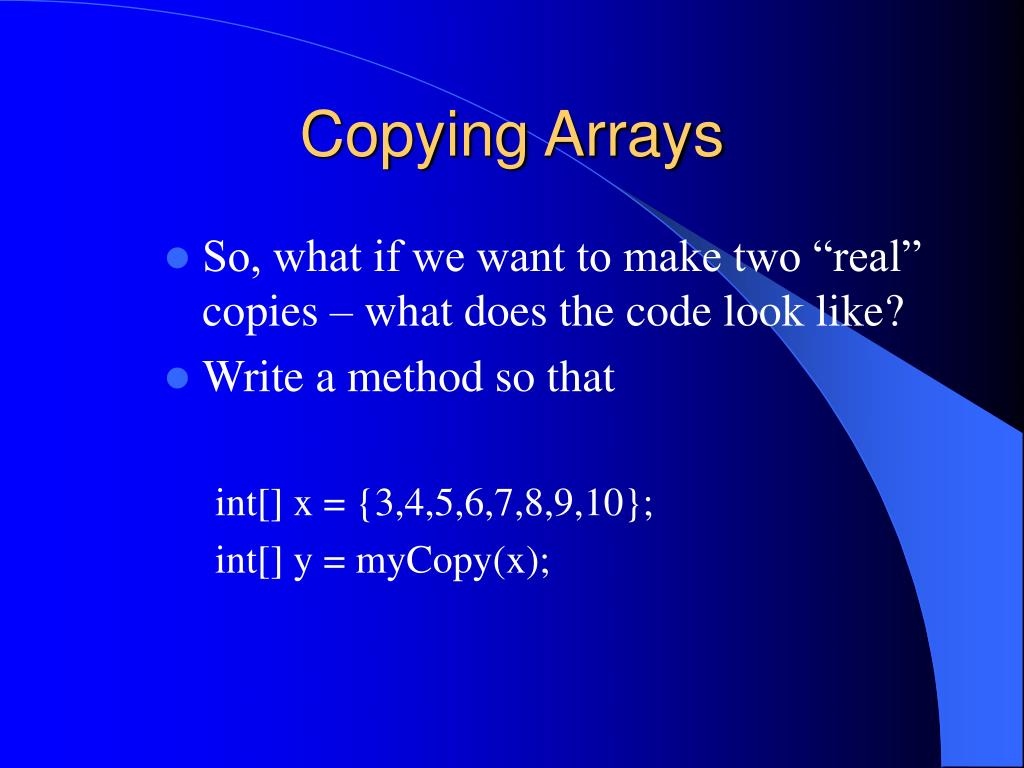 Copying Arrays