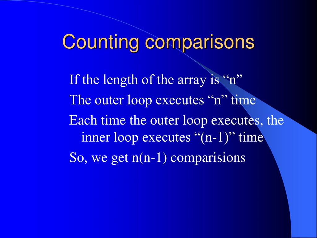 Counting comparisons