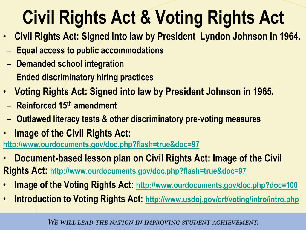 a study of the civil rights act of america An explanation how the american civil rights movement of the how the civil rights movement affected us immigration many of the muslims who came to study.