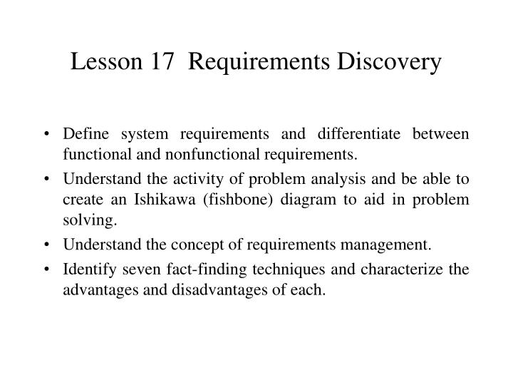lesson 17 requirements discovery n.