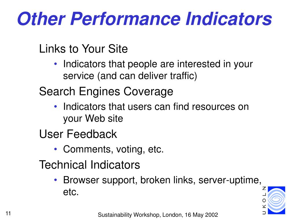 Other Performance Indicators