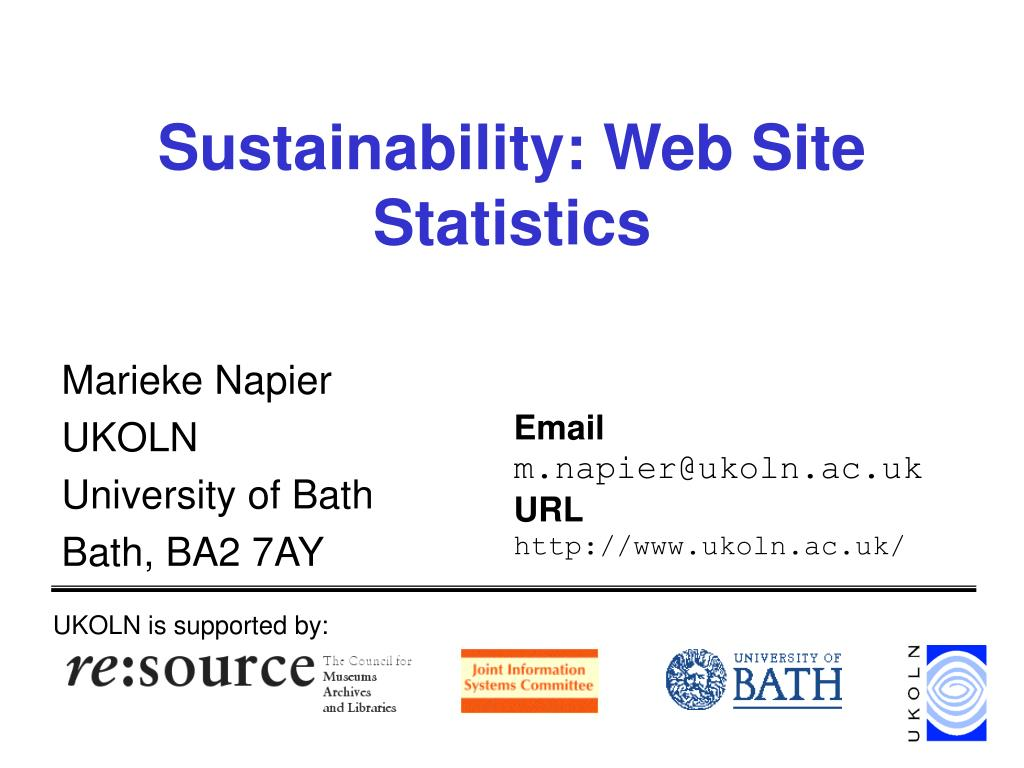 Sustainability: Web Site Statistics