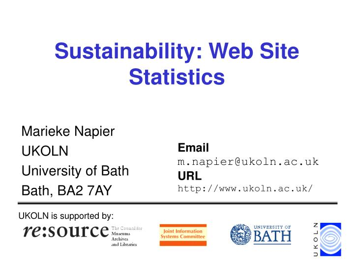 Sustainability web site statistics