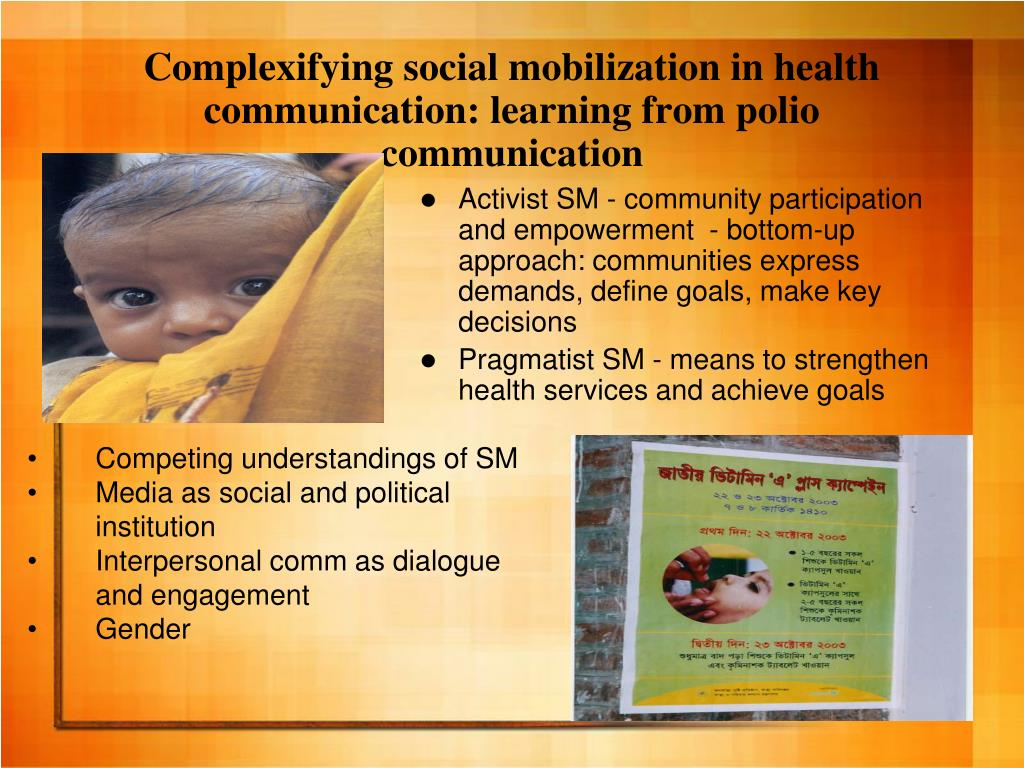 Complexifying social mobilization in health communication: learning from polio communication