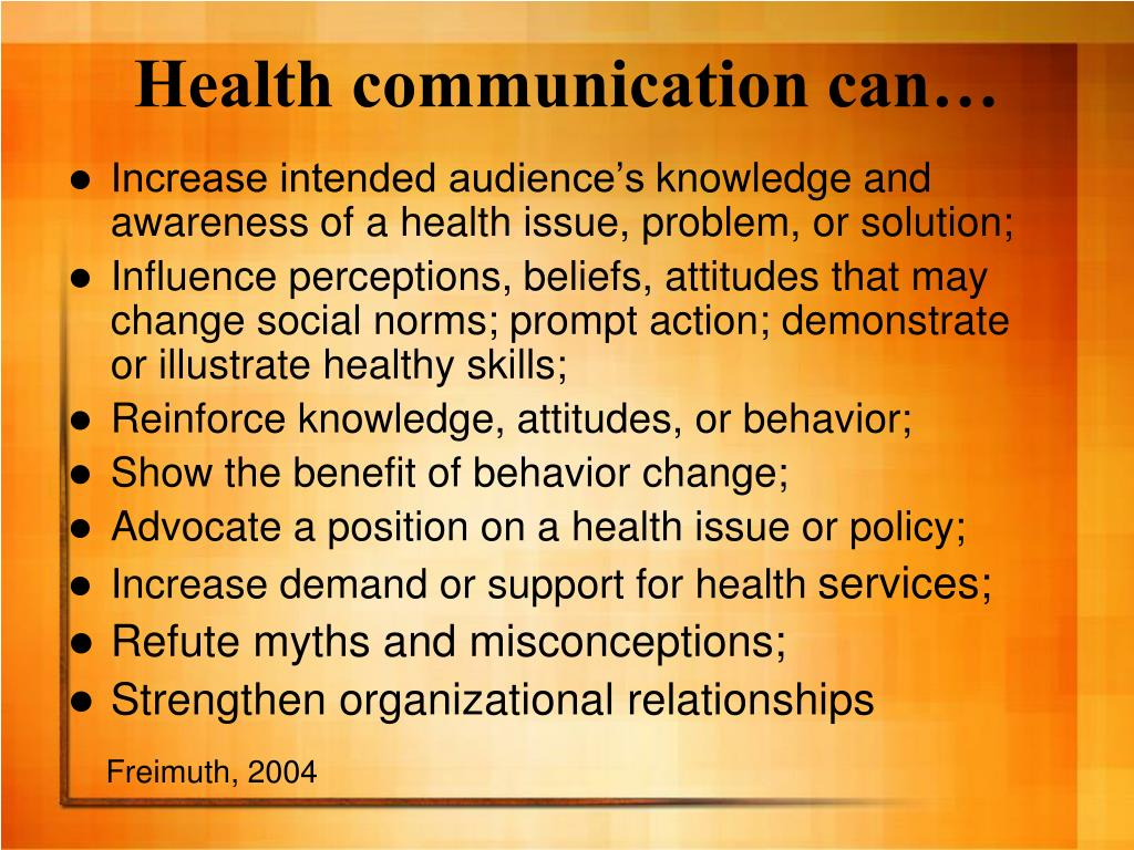 Health communication can…