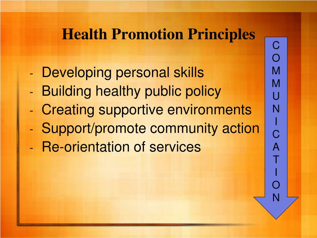 Health Promotion Principles