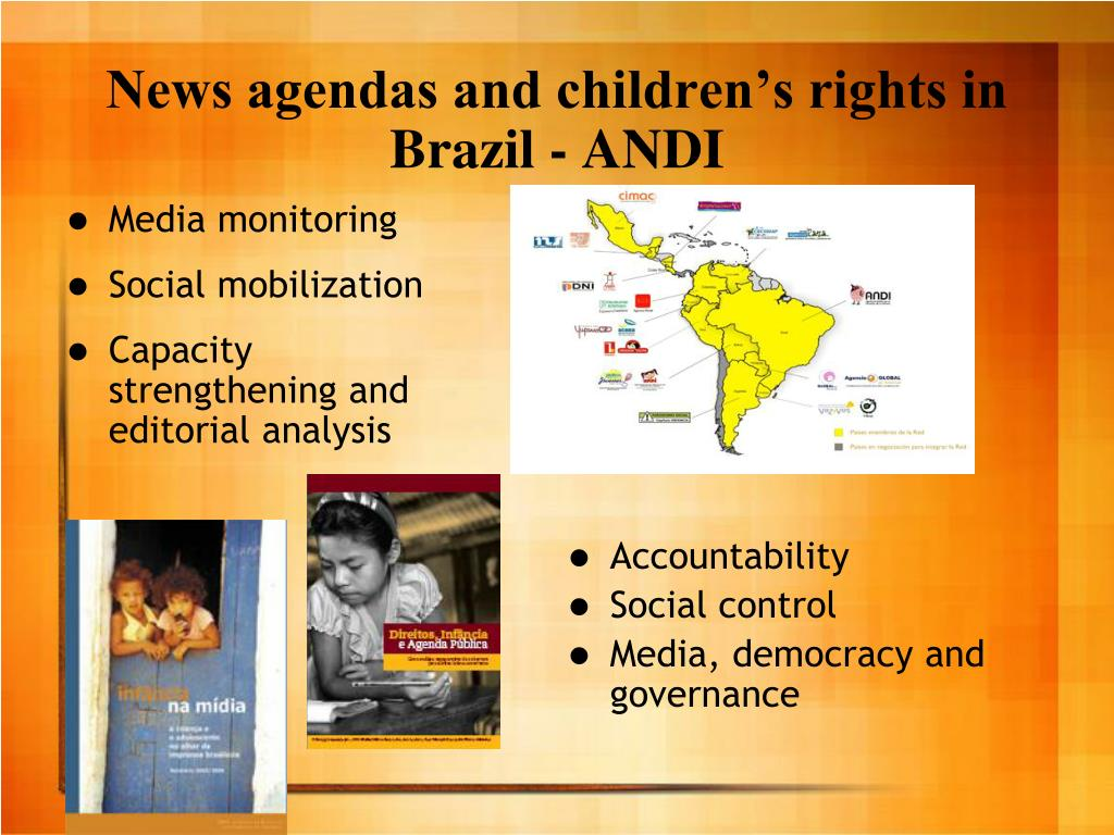 News agendas and children's rights in Brazil - ANDI