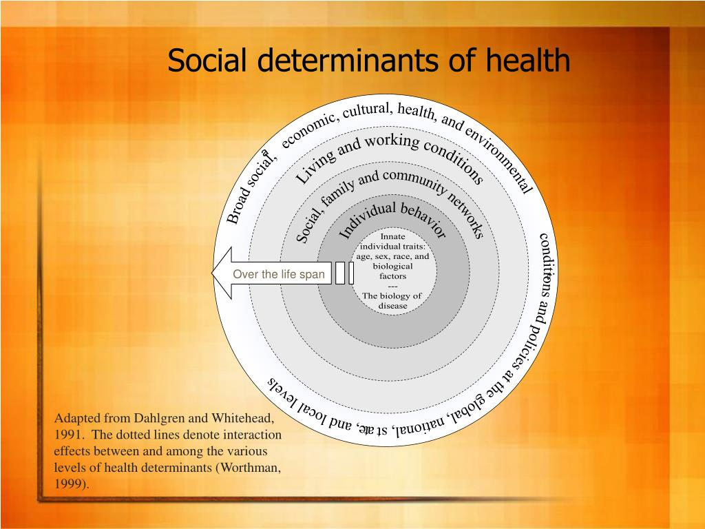 Broad social,   economic, cultural, health, and environmental           conditions and policies at the global, national, state, and local levels