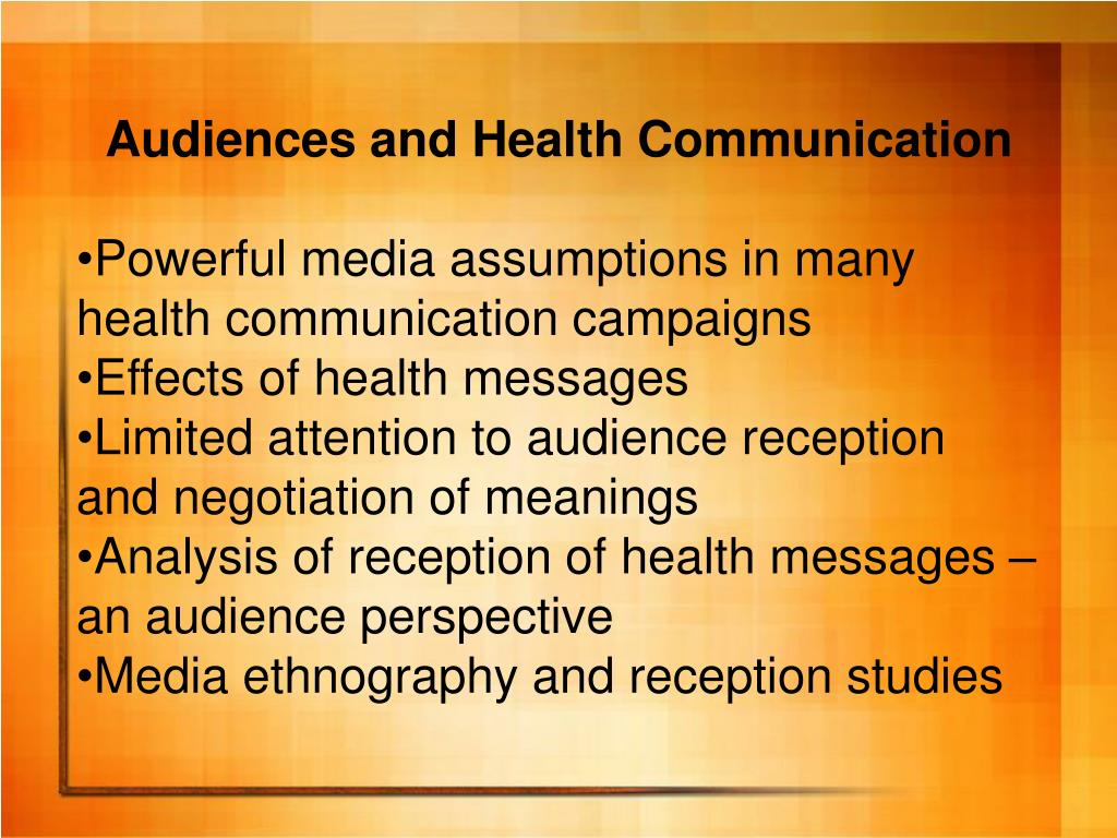 Audiences and Health Communication