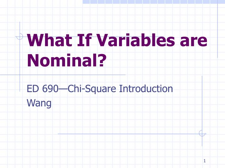 what if variables are nominal n.