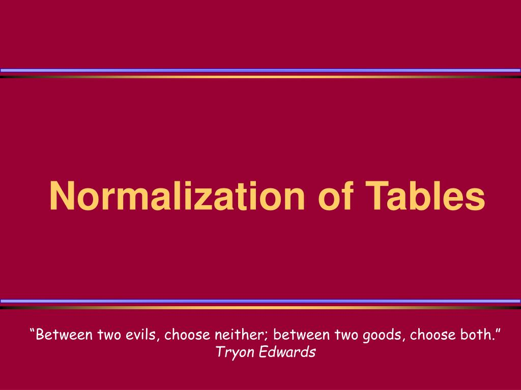 chapter 3 table normalization and windows Chapter 6 normalization of database tables answers to review questions 1 normalization is the process for assigning attributes to 3 when is a table in 2nf.