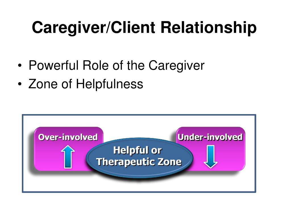 Caregiver/Client Relationship