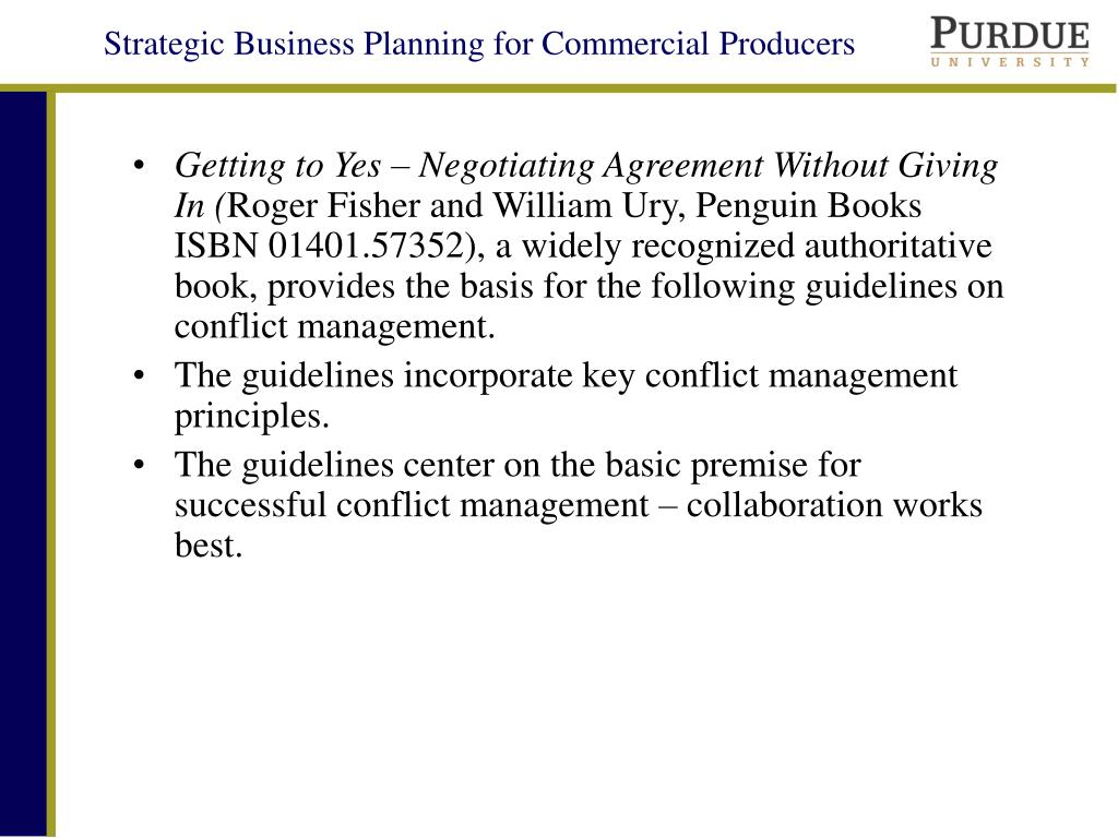 Getting to Yes – Negotiating Agreement Without Giving In (