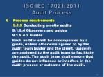 iso iec 17021 2011 audit process38