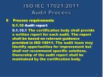 iso iec 17021 2011 audit process52