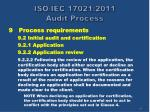 iso iec 17021 2011 audit process61