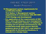 iso iec 17021 2011 audit process62