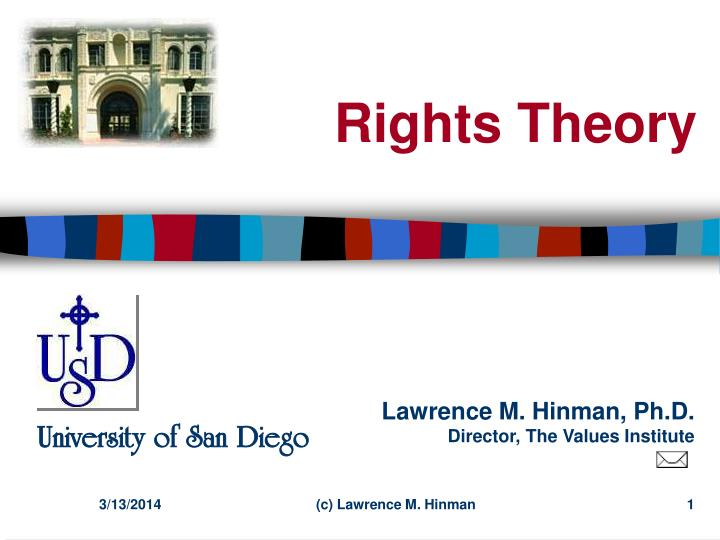 rights theory n.