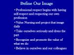 d efine our image