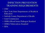 infection prevention training requirements