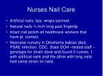 nurses nail care
