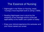 the essence of nursing