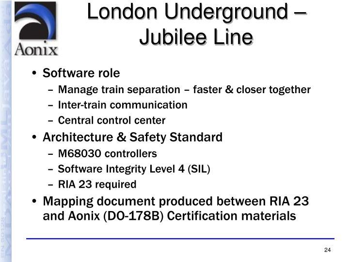 London Underground – Jubilee Line