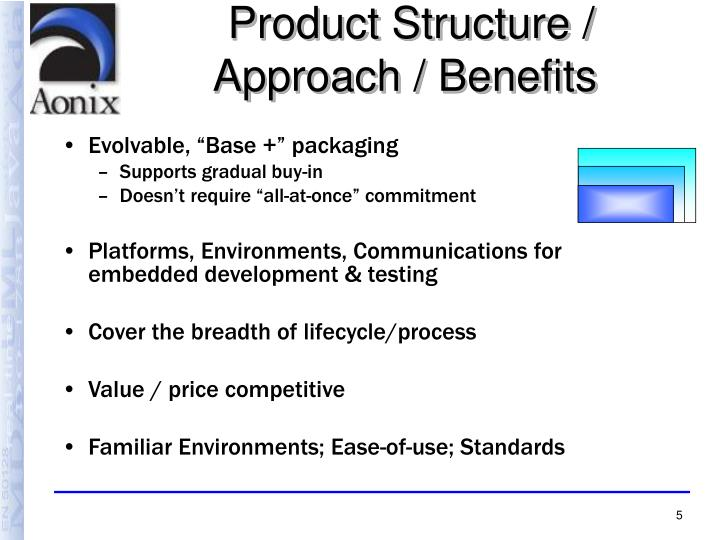 Product Structure / Approach / Benefits