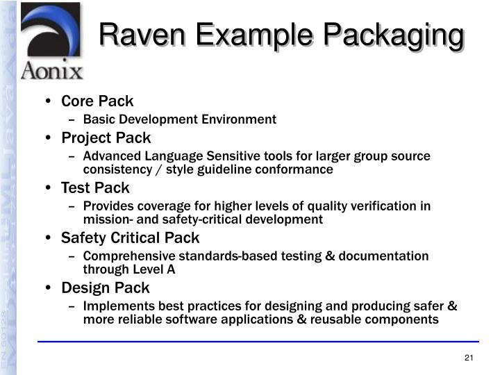 Raven Example Packaging