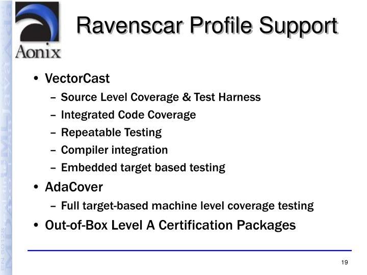 Ravenscar Profile Support