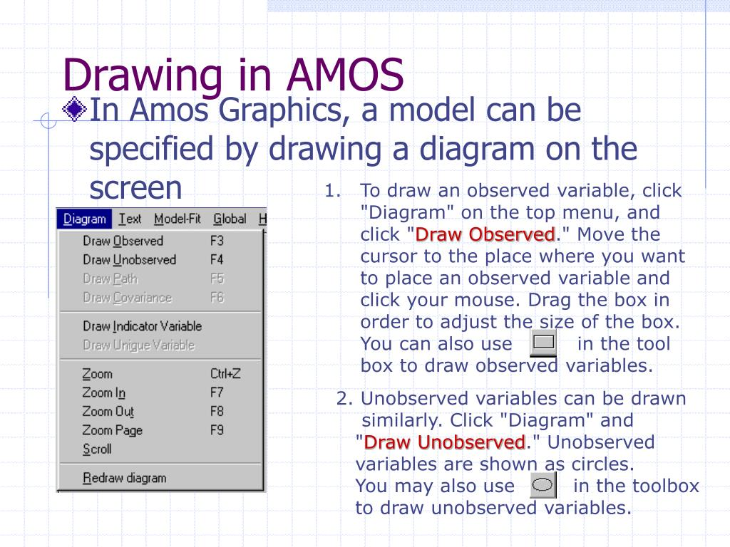 PPT - AMOS – Analysis of Moment Structures PowerPoint