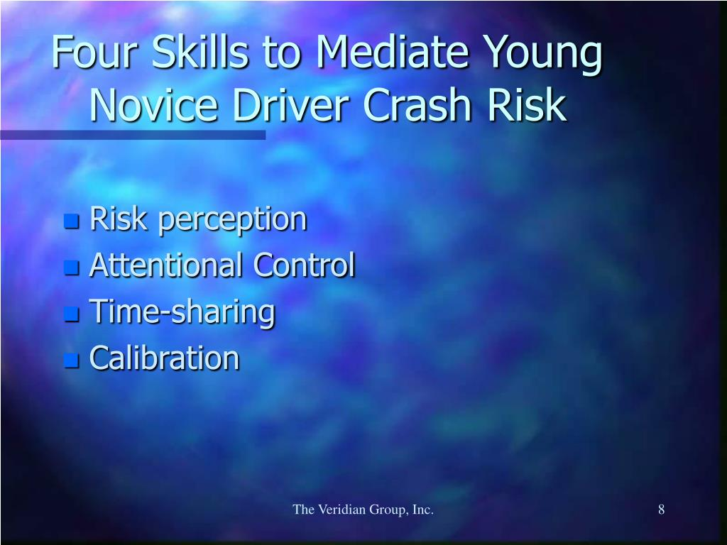 Four Skills to Mediate Young Novice Driver Crash Risk