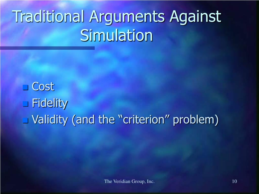 Traditional Arguments Against Simulation