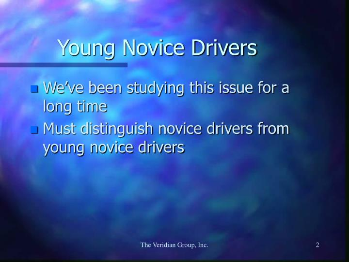 Young novice drivers