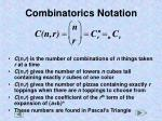 combinatorics notation