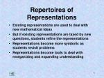 repertoires of representations